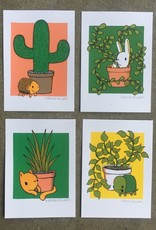 everyday balloons print shop Plant Friends Prints by everyday balloons print shop