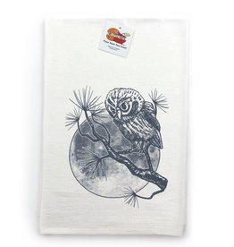Two Little Fruits Owl + Moon Tea Towel