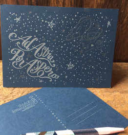 Skylab Letterpress Ad Astra Letterpress Postcards