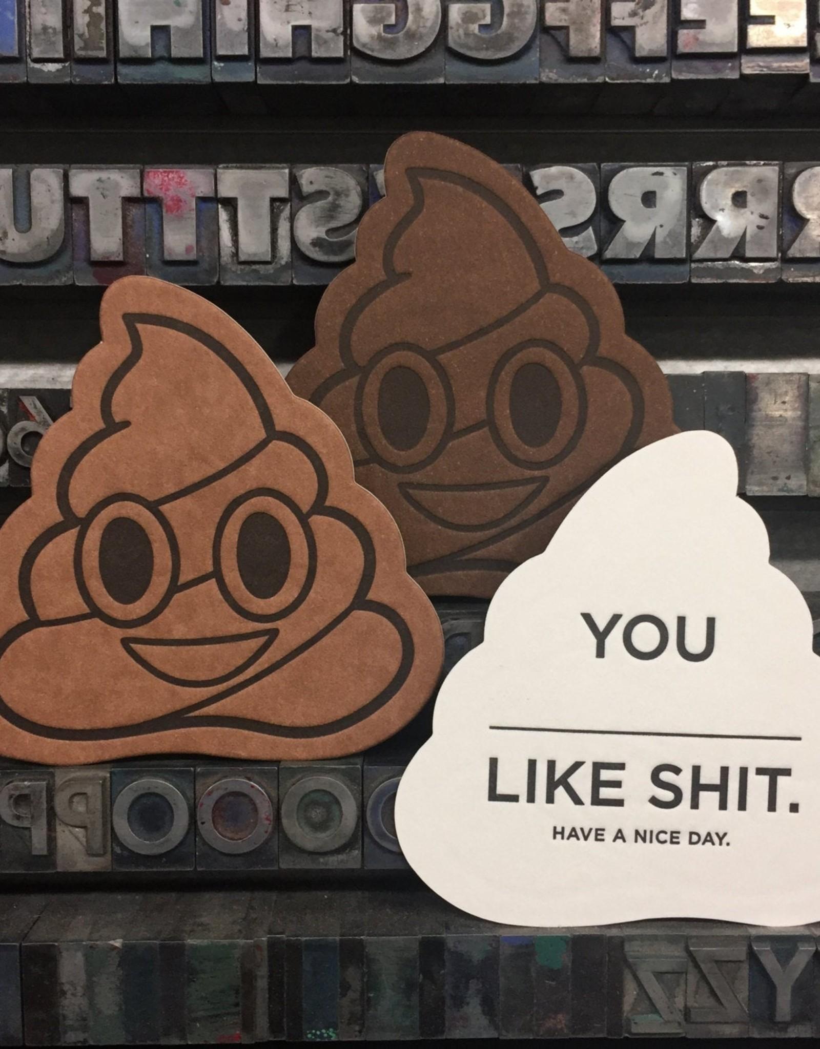 Skylab Letterpress Poop Emoji Notes