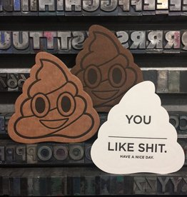 Skylab Letterpress Poop Emoji Notes