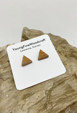 YoungFineWoodcraft Wooden Stud Earrings by YoungFineWoodcraft