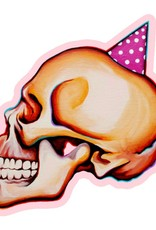 Kaitlin Ziesmer Party Skull Magnet by Kaitlin Ziesmer