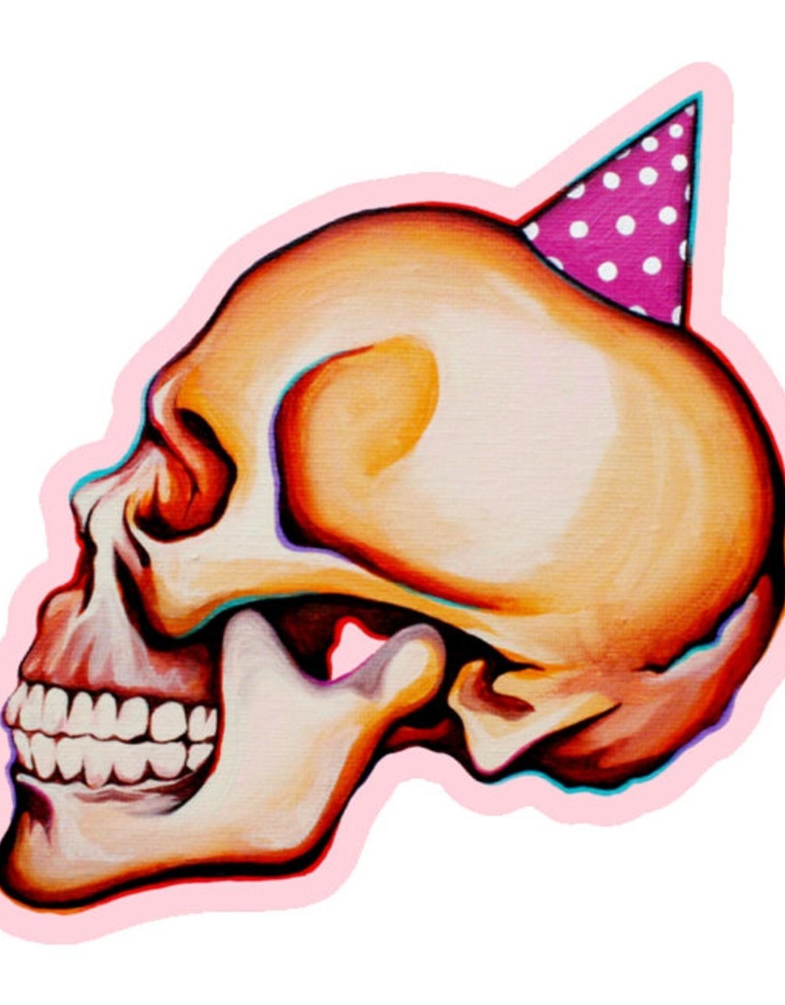 Kaitlin Ziesmer Party Skull Magnet by Kaitlin Ziesmer