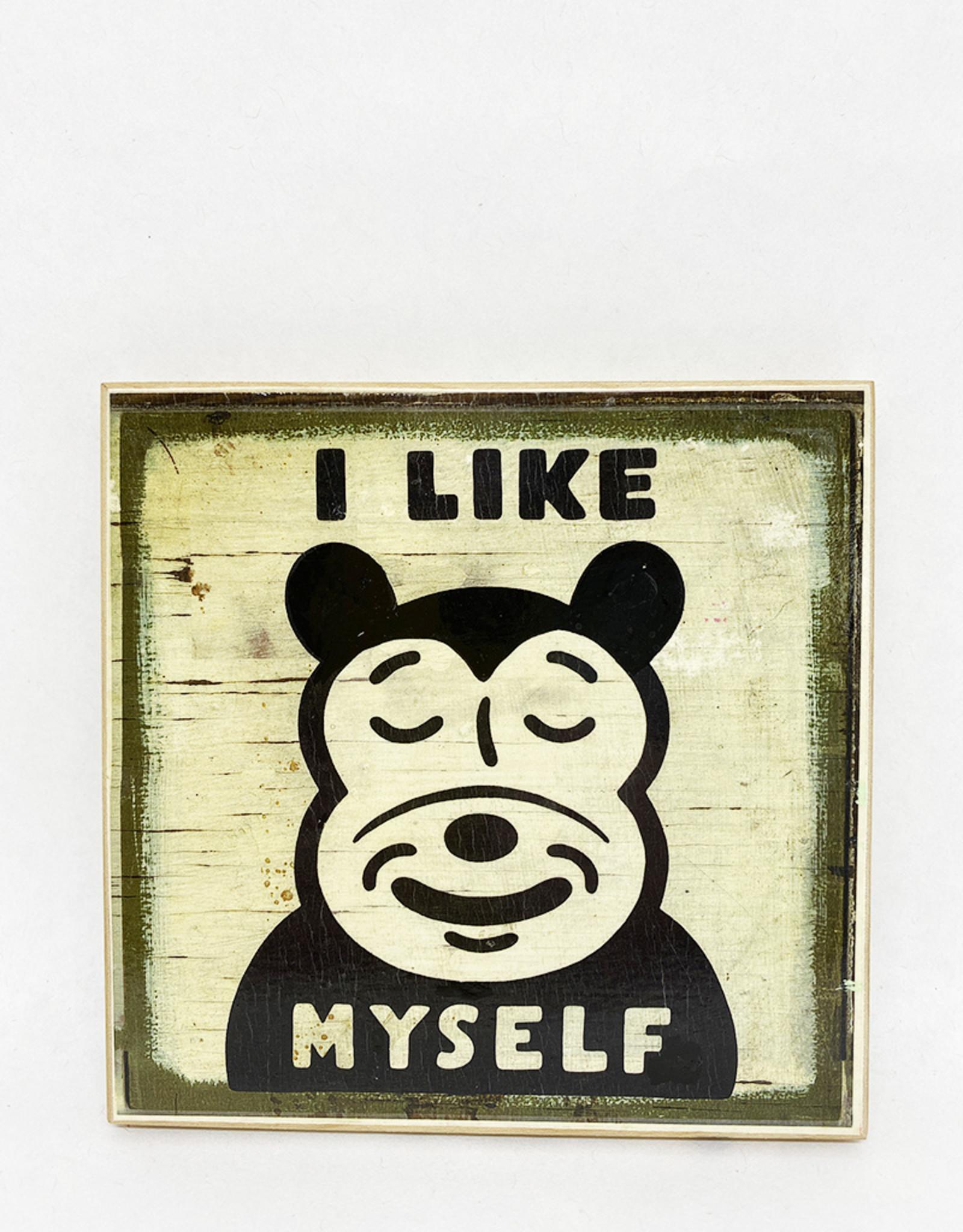 Dick Daniels I Like Myself Image Transfer on Wood Block