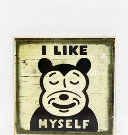 Dick Daniels I Like Myself Image Transfer on Wood Block
