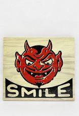 Dick Daniels Smile Image Transfer on Wood Block