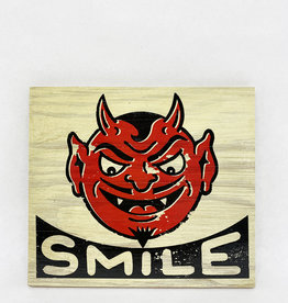 Dick Daniels Smile Image Transfer on Wood Block