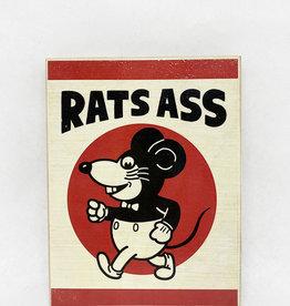 Dick Daniels Rats Ass Image Transfer on Wood Block