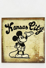 Dick Daniels Kansas City Mickey Image Transfer on Wood Block