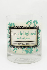 b.e. nurtured Be Delighted Soy Pillar Candle