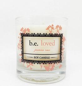 b.e. nurtured Be Loved Soy Jasmine Rose Pillar Candle