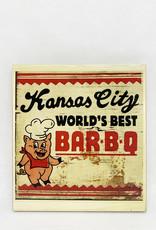 Dick Daniels Kansas City BBQ Image Transfer on Wood Block
