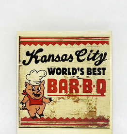 Dick Daniels Kansas City BBQ Image Transfer on Wood Block