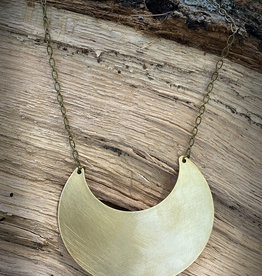 Bloom + Thistle Brass Crescent Necklace by Bloom + Thistle