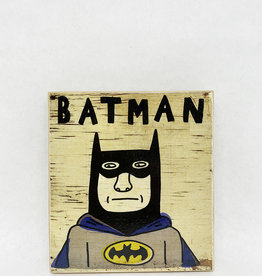 Dick Daniels Batman Image Transfer on Wood Block