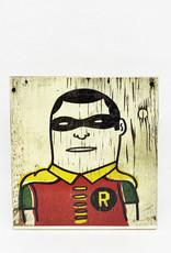 Dick Daniels Robin Image Transfer on Wood Block