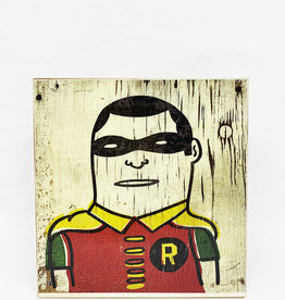 Dick Daniels Robin Image Transfer on Wood Block
