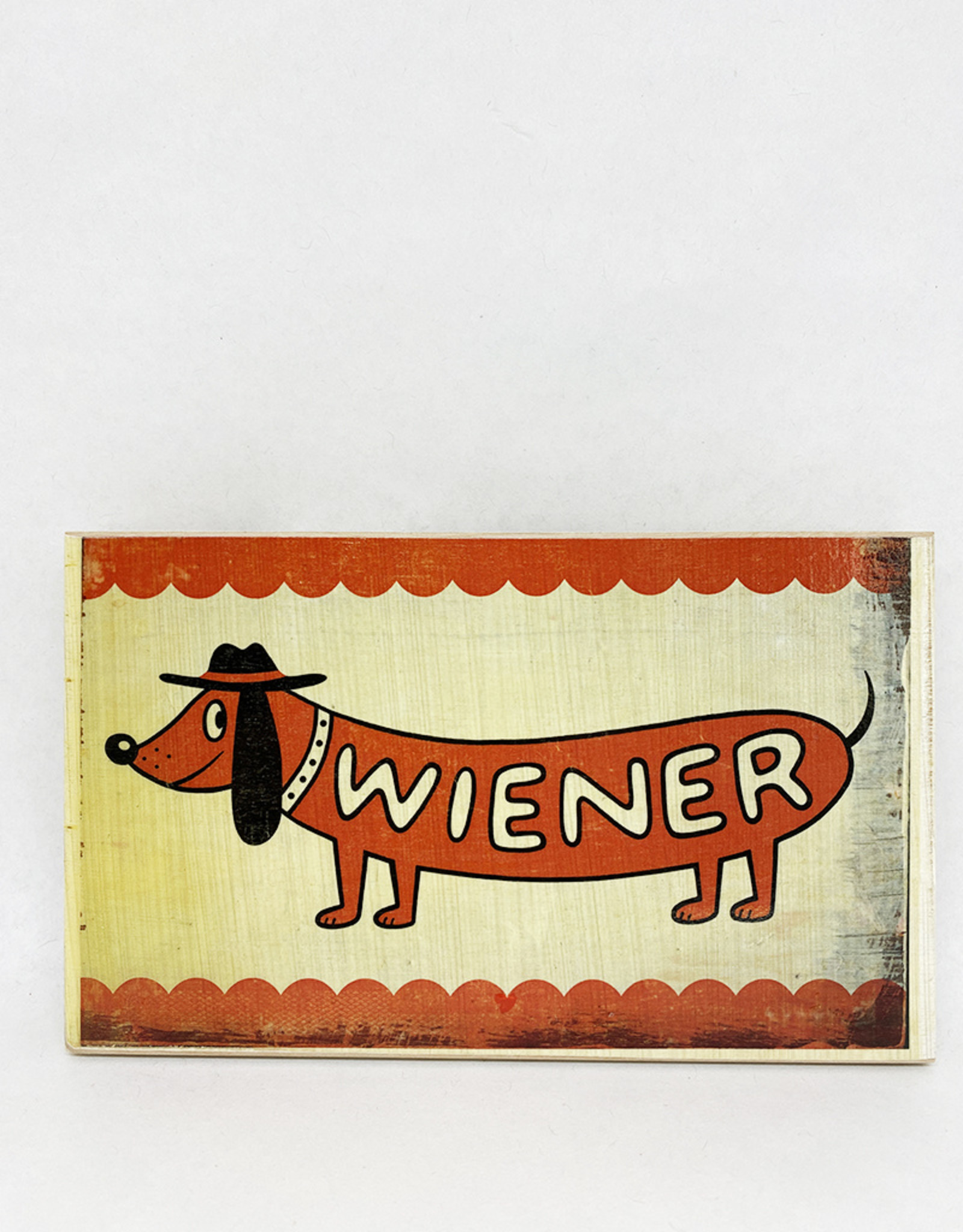 Dick Daniels Weiner Image Transfer on Wood Block