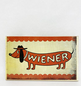 Dick Daniels Weiner Image Transfer on Wood Block