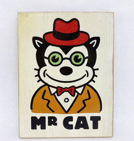 Dick Daniels Mr. Cat Image Transfer on Wood Block