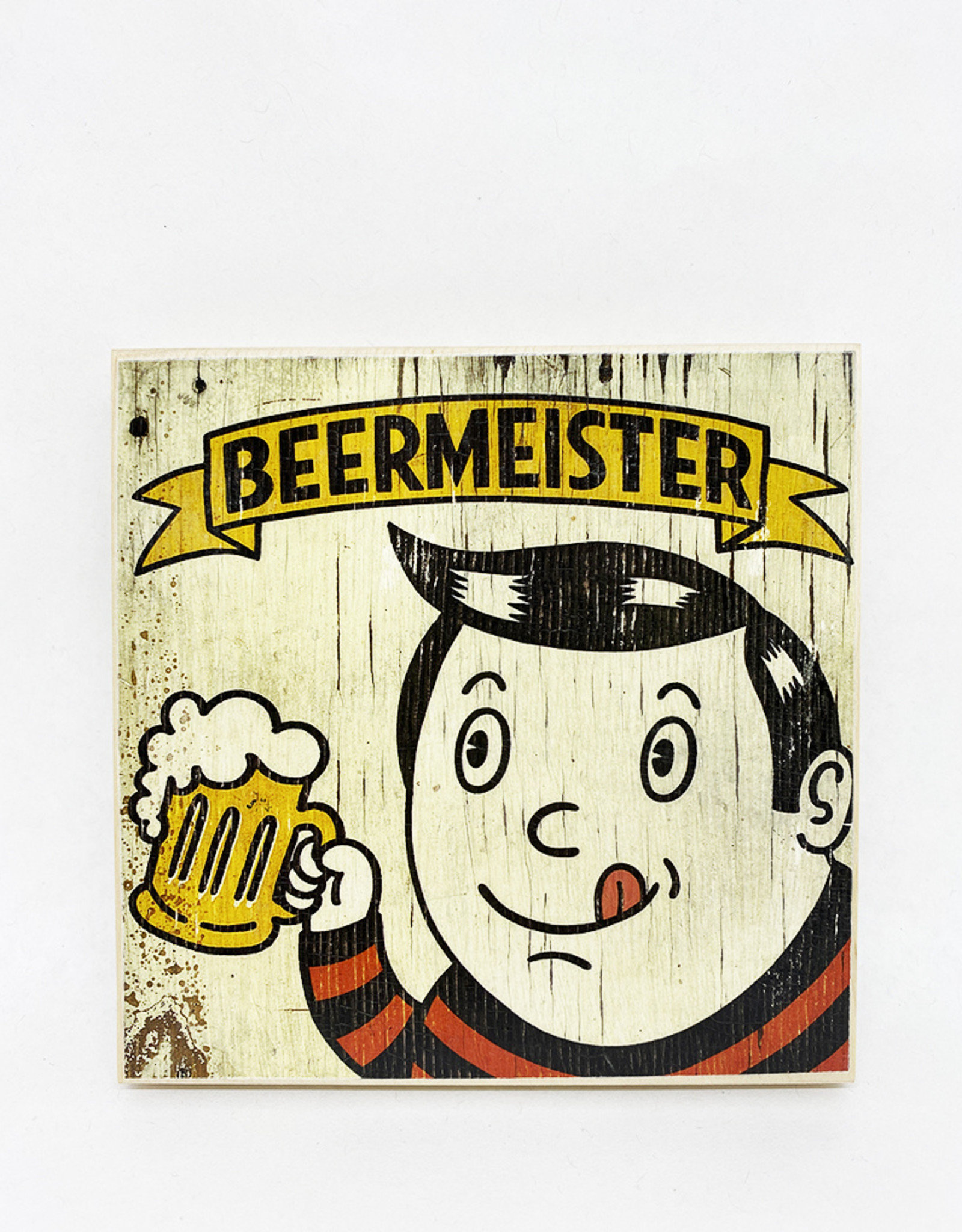 Dick Daniels Beermeister Image Transfer on Wood Block