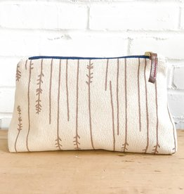 Erin Flett Natural Bark Cloth Zipper Bags by Erin Flett