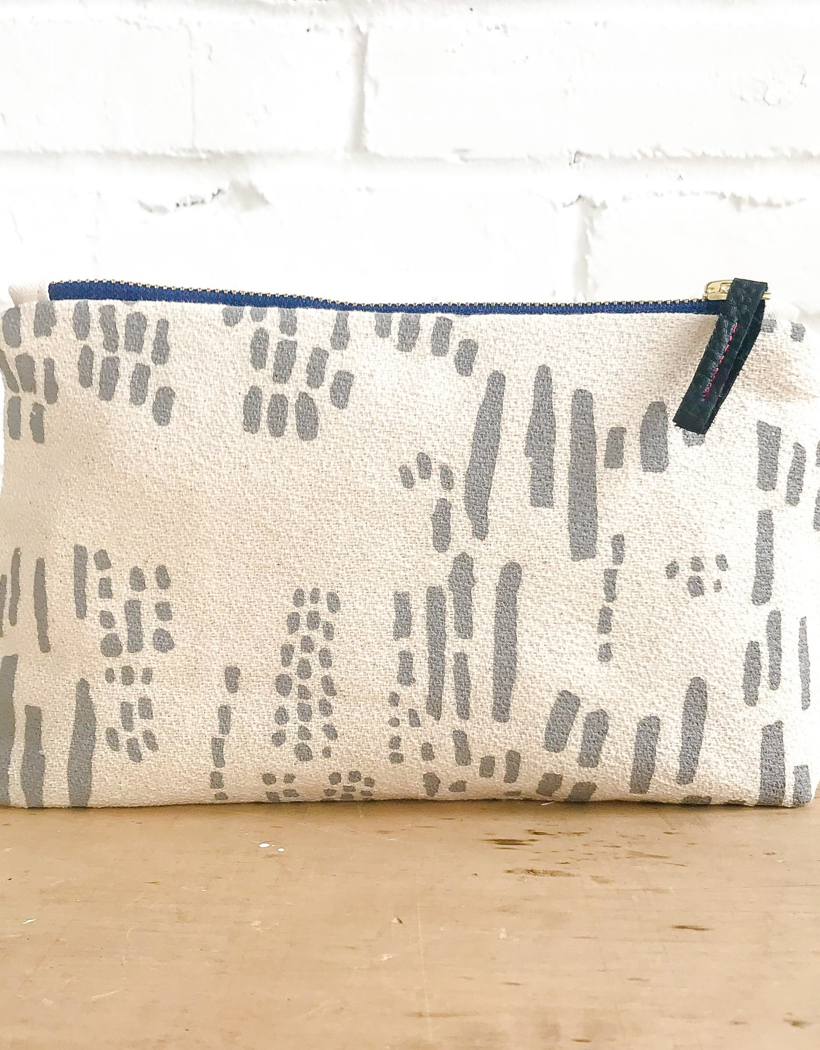 Erin Flett Natural Bark Cloth Zipper Bags by Erin Flett