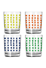 Erin Flett Squares Rocks Glasses by Erin Flett
