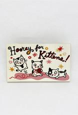 Dick Daniels Hooray For Kittens Image Transfer on Wood Block