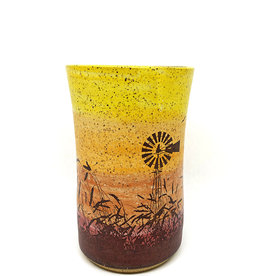 Melanie Harvey Pottery Prairidise Tumblers by Melanie Harvey