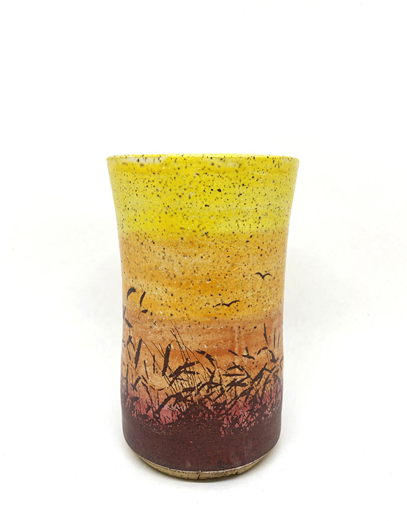 Melanie Harvey Pottery Prairidise Tumblers by Melanie Harvey