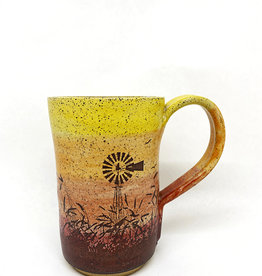 Melanie Harvey Pottery Prairidise Mugs by Melanie Harvey