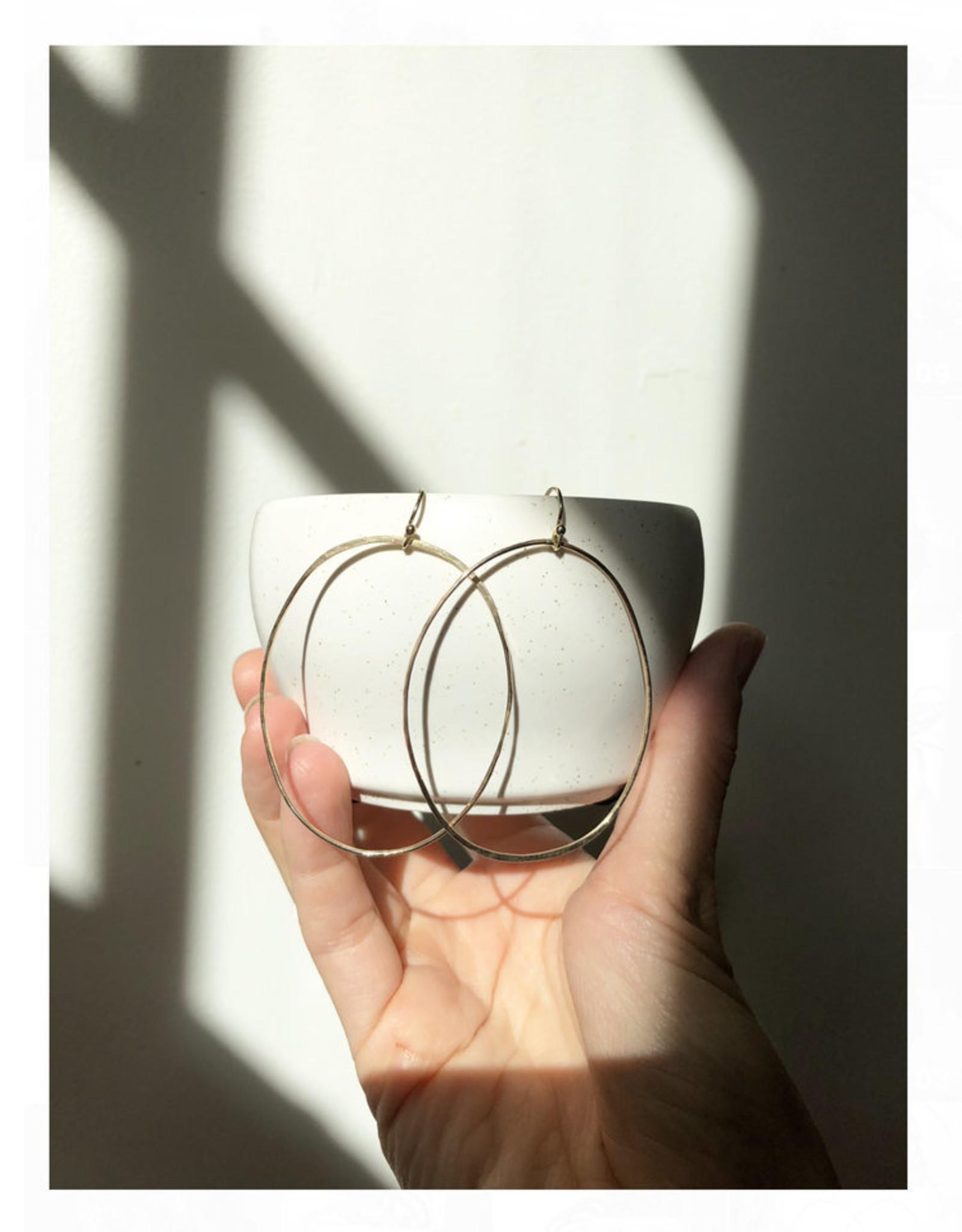 sara forrest design Oval Drop Hoop Earrings by Sara Forrest Design