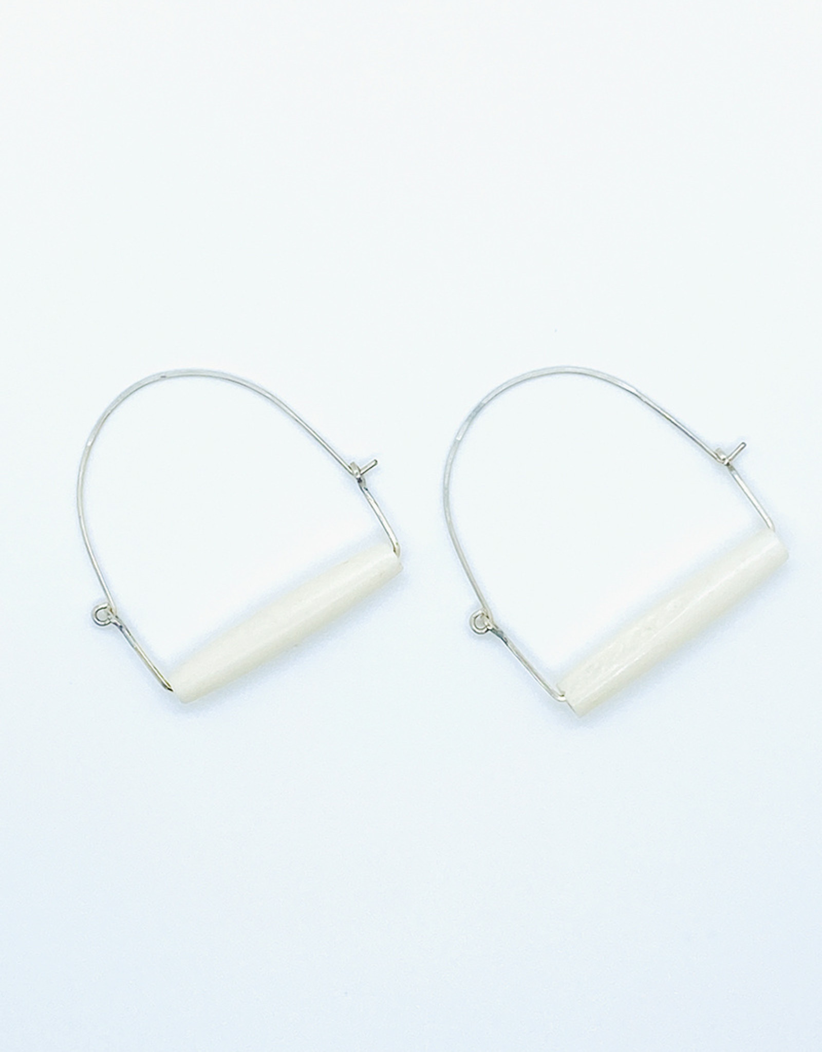 Earth Sign Design Bone + Silver Earrings by Earth Sign Design