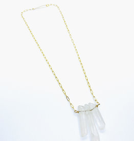 Earth Sign Design Crystal Quartz Necklace by Earth Sign Design