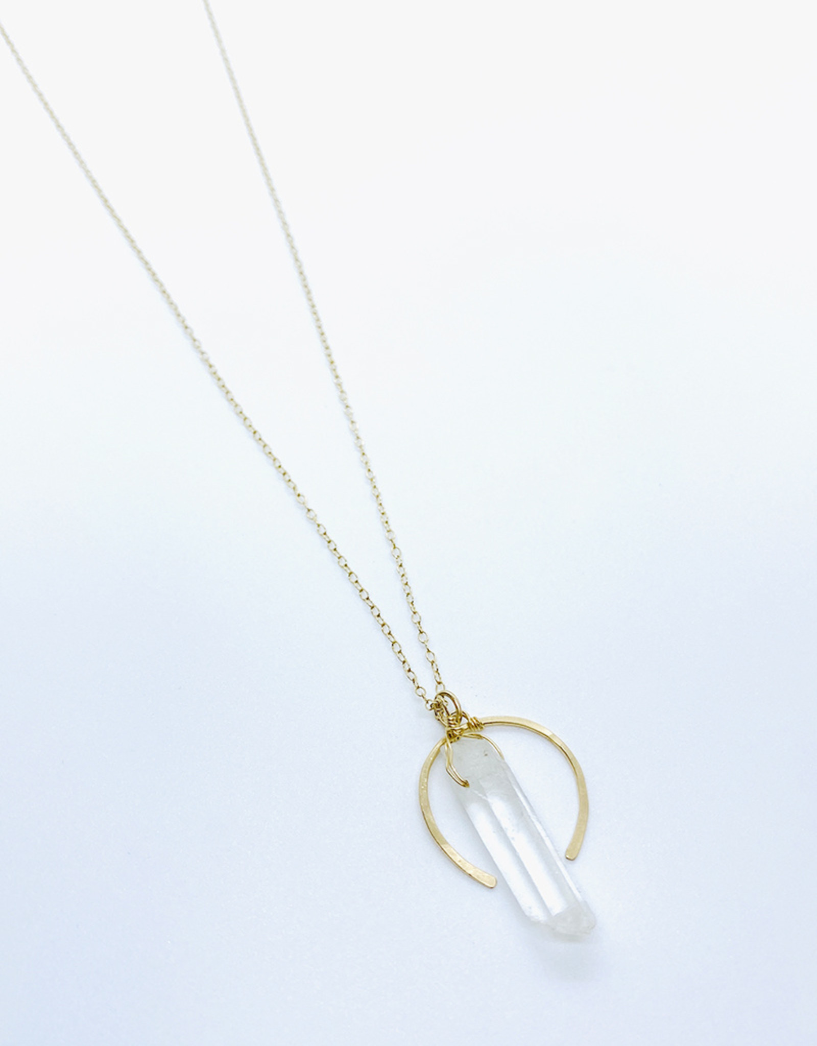 Earth Sign Design Crystal Quartz + Arch Necklace by Earth Sign Design