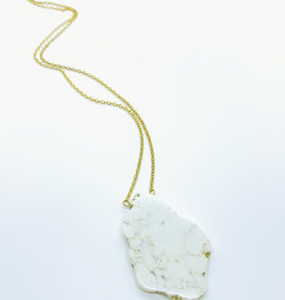 Earth Sign Design Howlite Necklace by Earth Sign Design