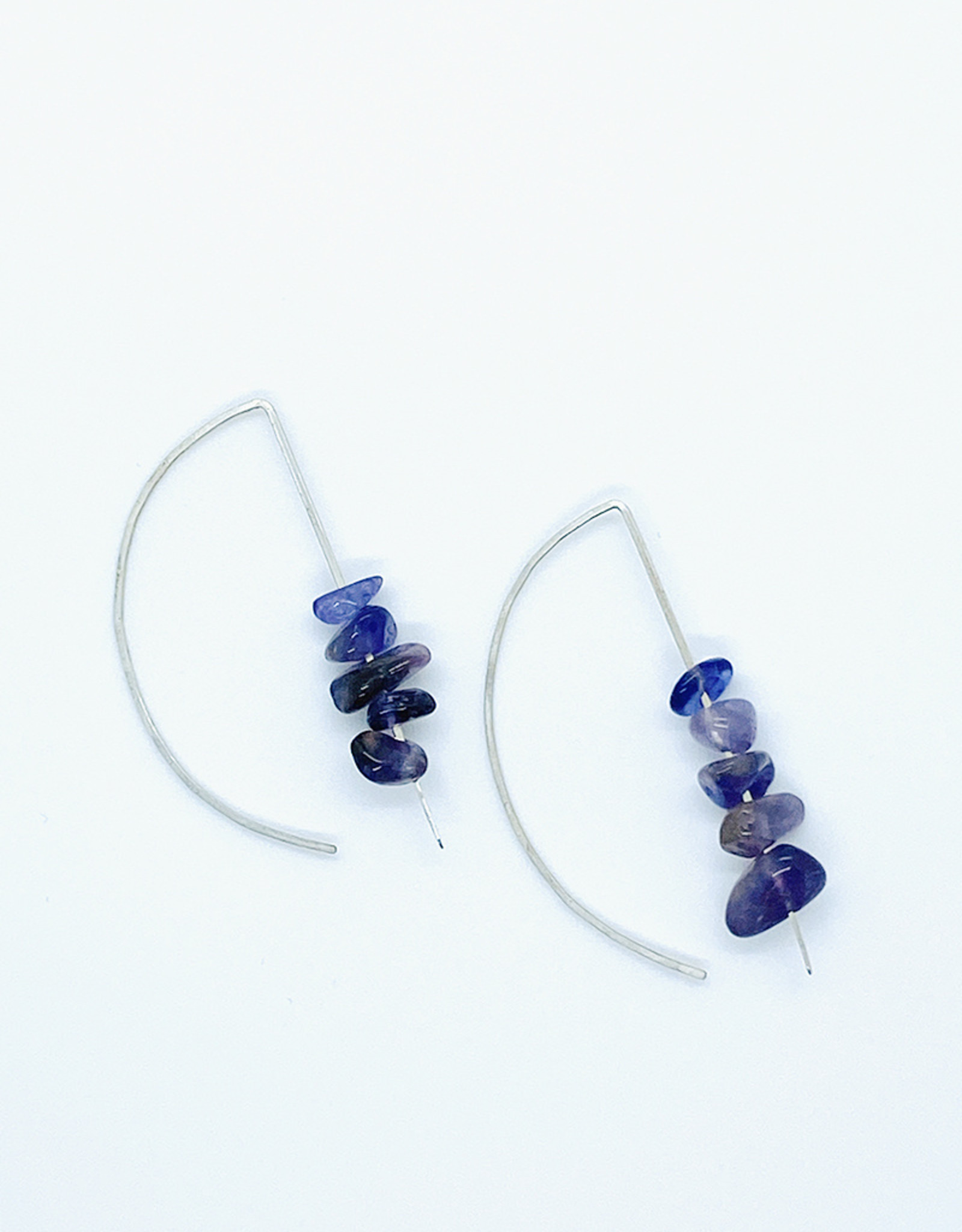 Earth Sign Design Amethyst Loop Earrings by Earth Sign Design