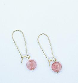 Tilly Doro Rose Quartz Earrings