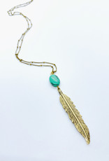 Tillydoro Feather + Turquoise Necklace // Tillydoro
