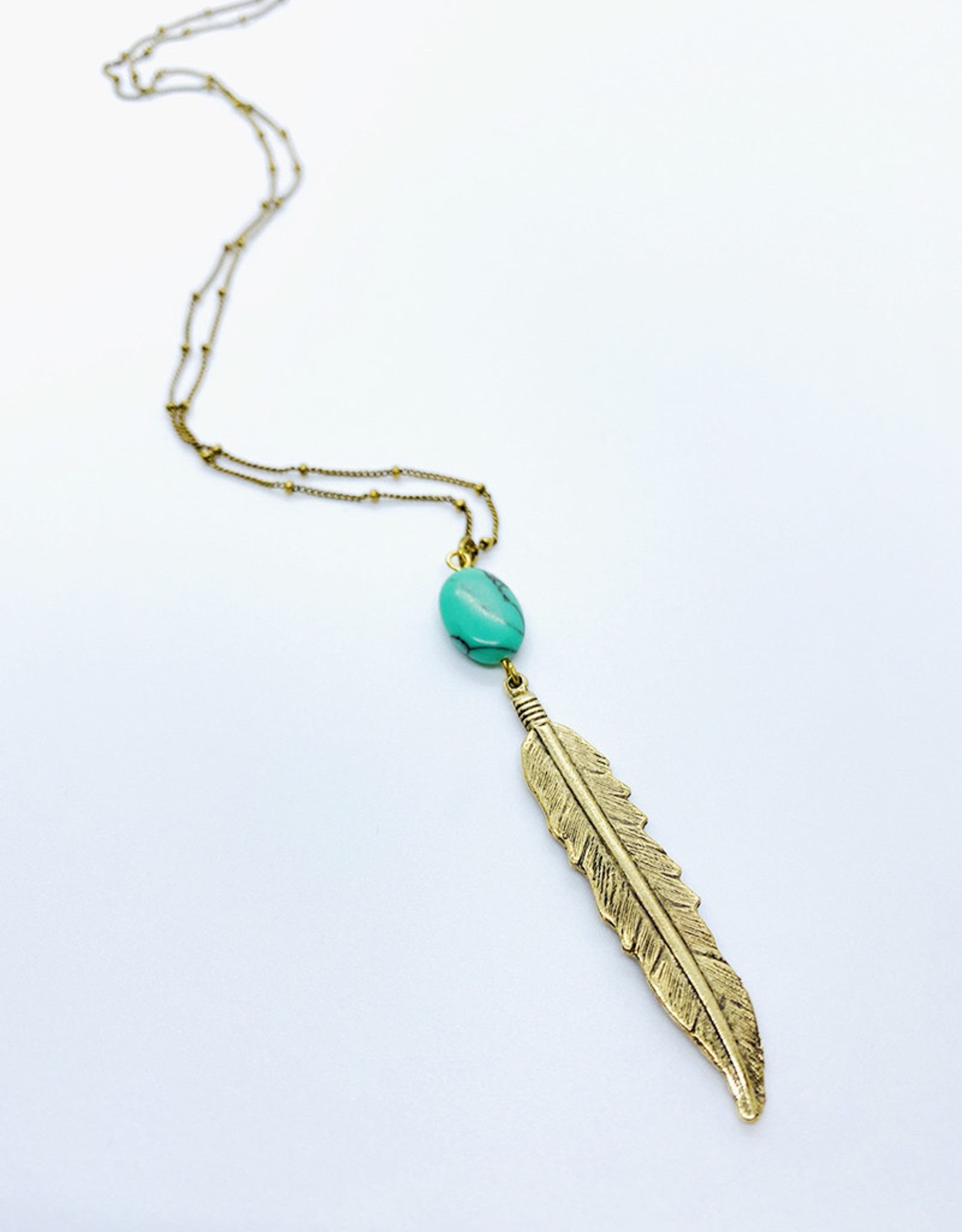 Tilly Doro Feather + Turquoise Necklace // Tillydoro