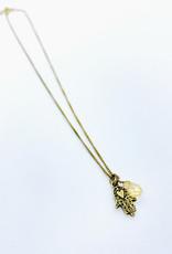 Tillydoro Hamsa + Stone Necklace // Tillydoro
