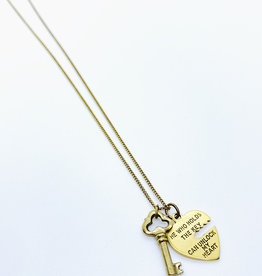 Tillydoro Heart + Key Necklace // Tillydoro
