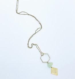 Tilly Doro Hexagon + Green Amethyst Necklace // Tillydoro