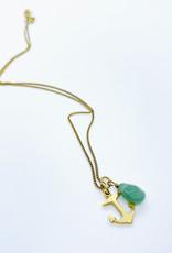 Tillydoro Anchor + Adventurine Necklace // Tillydoro