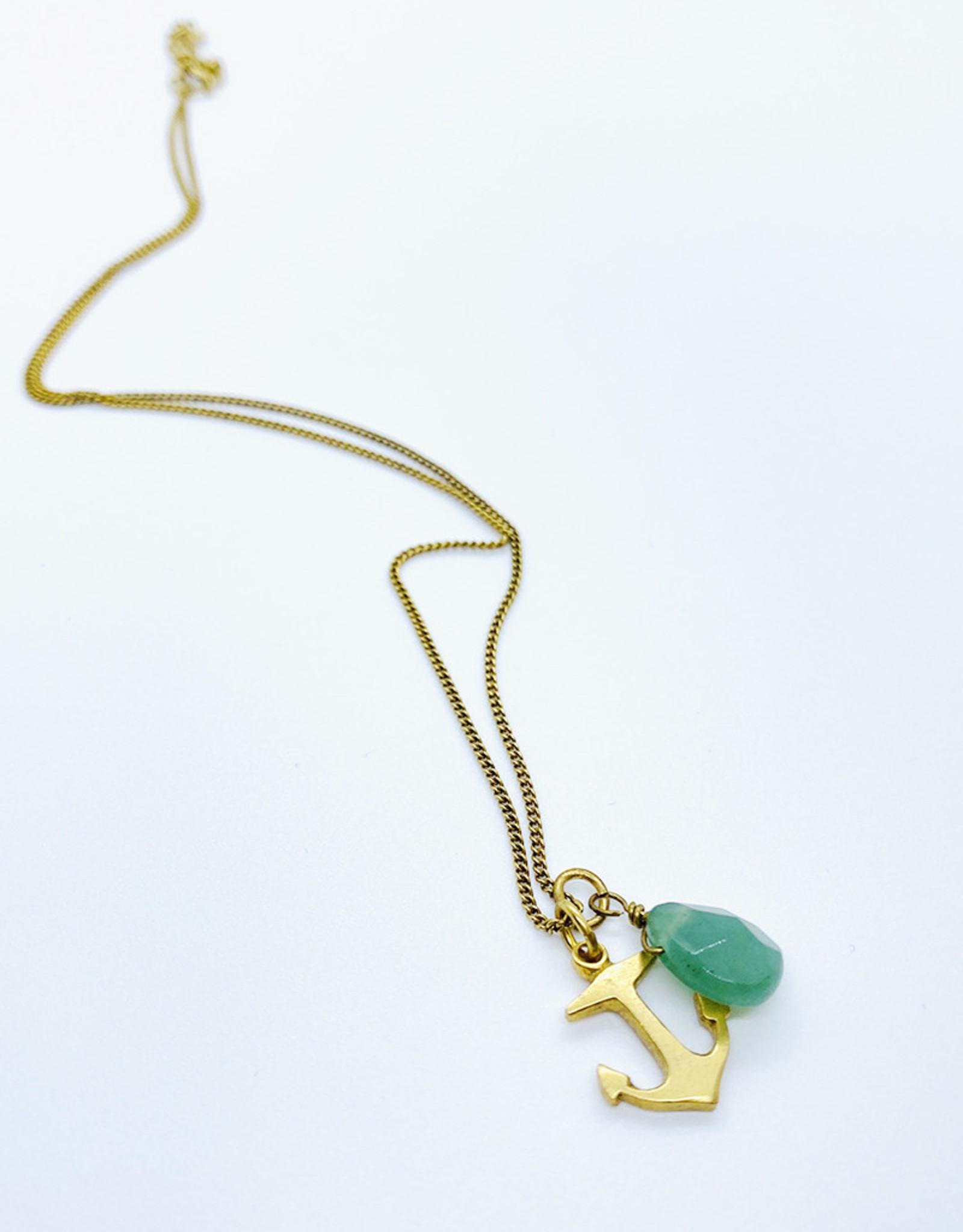 Tilly Doro Anchor + Adventurine Necklace // Tillydoro