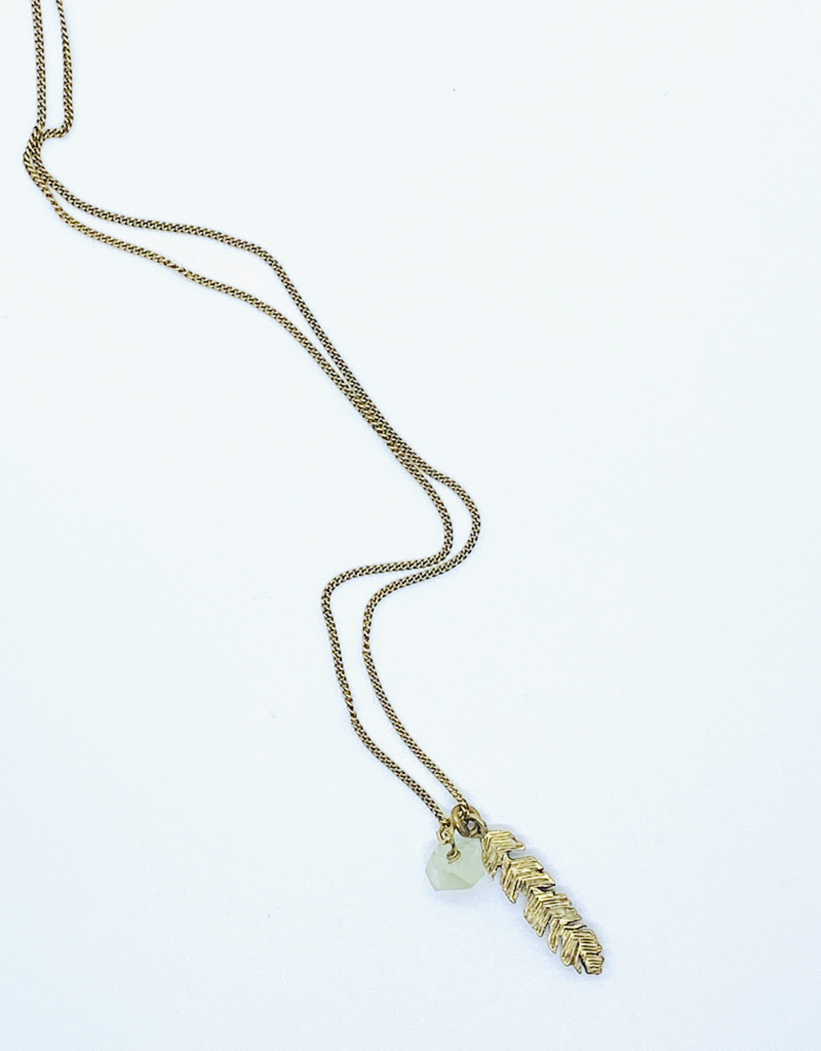 Tillydoro Feather + Green Amethyst Necklace // Tillydoro