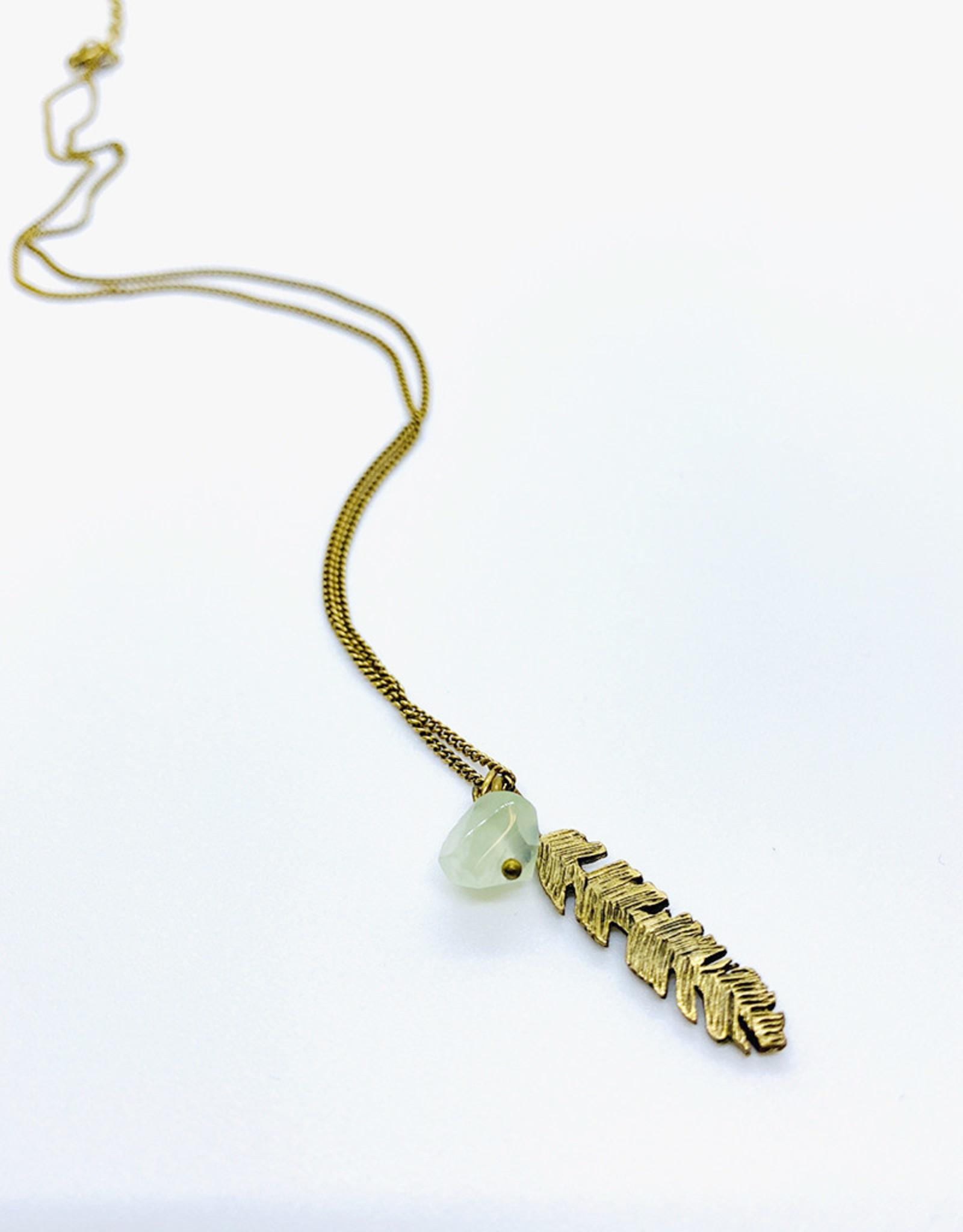 Tilly Doro Feather + Green Amethyst Necklace // Tillydoro