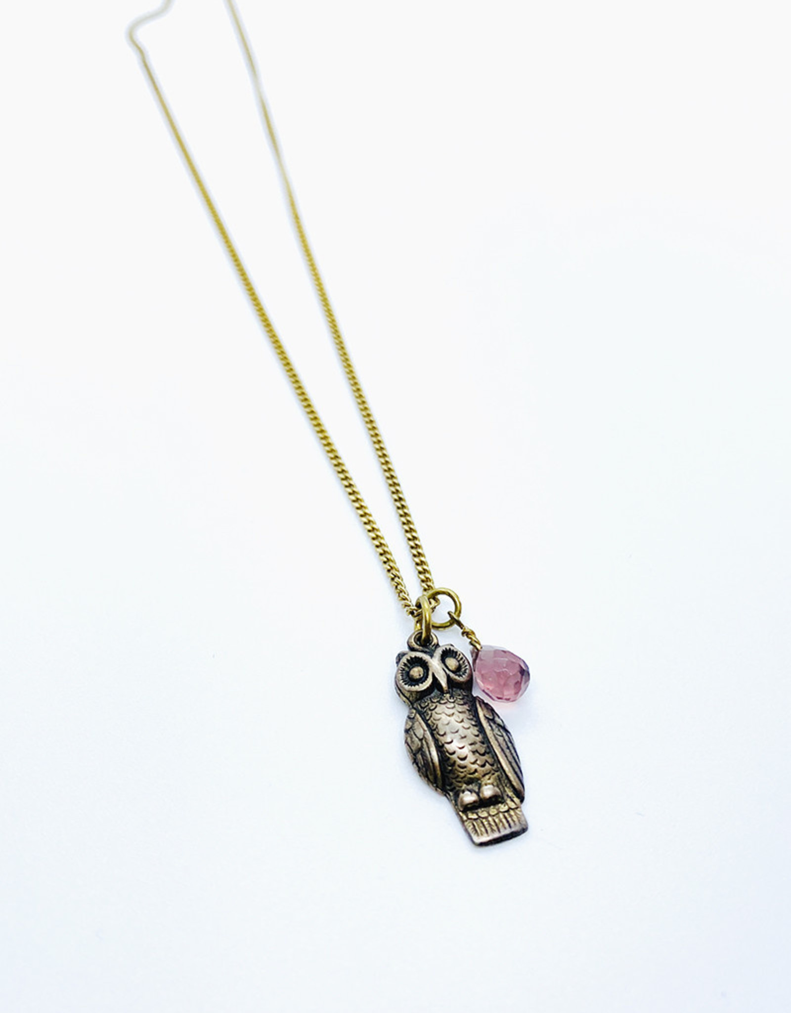 Tilly Doro Owl + Stone Necklace // Tillydoro